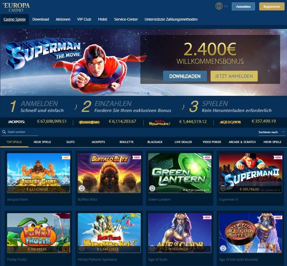 Europa Casino Test